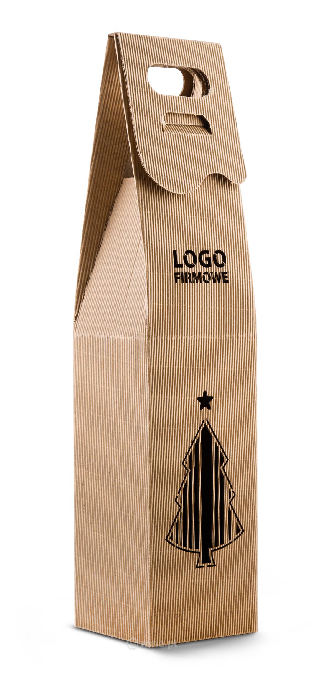 pudełko z logotypem