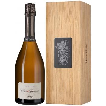 Champagne Lanson Clos Lanson Chardonnay Brut Vintage 2007 + luksusowa drewniana szkatułka