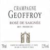 Szampan Rose de Saignee 1er Cru Rene Geoffroy - ZdjÄ™cie 2