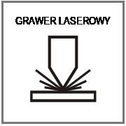 logotyp wycinany laserem